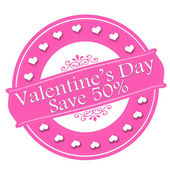 Valentine day save — Stock Vector