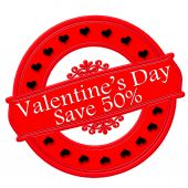 Valentine day save — Vettoriale Stock