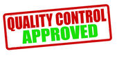 Quality control approved — Stock Vector