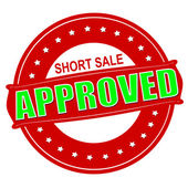 Short sale approved — Stock Vector