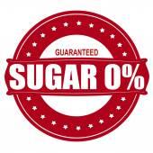 Sugar zero percent — Stock Vector