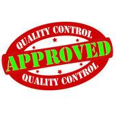 Kwaliteitscontrole, goedgekeurd — Stockvector