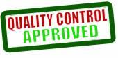 Kontroli jakości zatwierdzony — Wektor stockowy