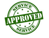 Service approved — Stock Vector