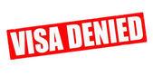 Visa denied — Stock Vector