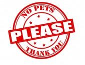 No pets please — Vector de stock