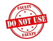 Faulty do not use — Stock Vector