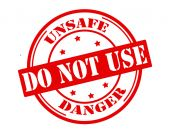 Unsafe do not use — Stock Vector