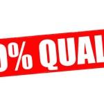 Постер, плакат: One hundred percent quality