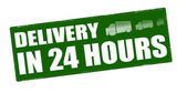 Delivery in twenty four hours — Stock Vector