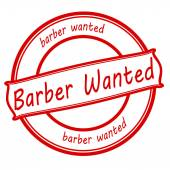 Barber wanted — Stock Vector