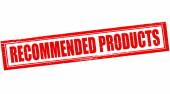 Recommended products — Stock Vector