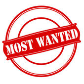 Most wanted — Stock Vector