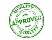 Quality approved — Stock Vector