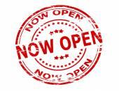 Now open — Stock Vector