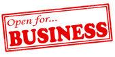 Aperto per il business — Vettoriale Stock
