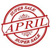April super sale — Vector de stock