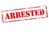 Arrested — Stock Vector
