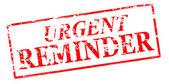 Urgent reminder — Stock Vector