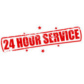 Twenty four hour service — Stock Vector