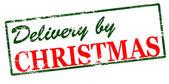 Entrega até o Natal — Vetor de Stock