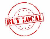 Buy local — Stock Vector