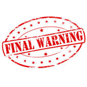 Final warning — Stock Vector