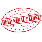 Help Nepal please — Stock Vector