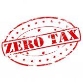 Zero tax — Stock Vector