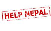 Help Nepal — Stock Vector