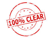 One hundred percent clear — Stock Vector