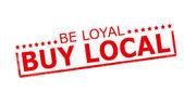 Be loyal buy local — Stock Vector