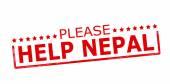 Please help Nepal — Stock Vector
