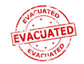 Evacuated — Stock Vector