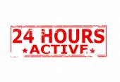 Twenty four hours active — Stock Vector