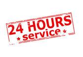 Twenty four hours service — Stock Vector