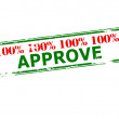 One hundred percent approve — Stock Vector #75086877