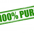 One hundred percent pure — Stock Vector #75086933
