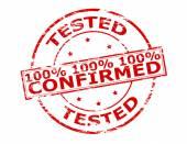 Um por cento hunder testadas confirmada — Vetor de Stock