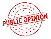 Publieke opinie — Stockvector