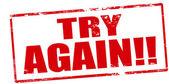 Try again — Stock Vector