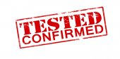Tested confirmed — Stock Vector
