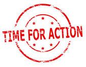 Zeit zu handeln — Stockvektor
