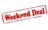 Weekend deal — Stock Vector