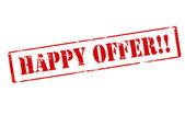 Happy offer — Stock Vector