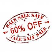 Sprzedaż sześćdziesiąt procent off — Wektor stockowy