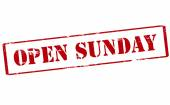 Open Sunday — Stock Vector