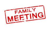 Family meeting — Stock Vector