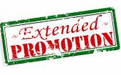 Extended promotion — Stock Vector