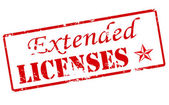Extended licenses — Stock Vector